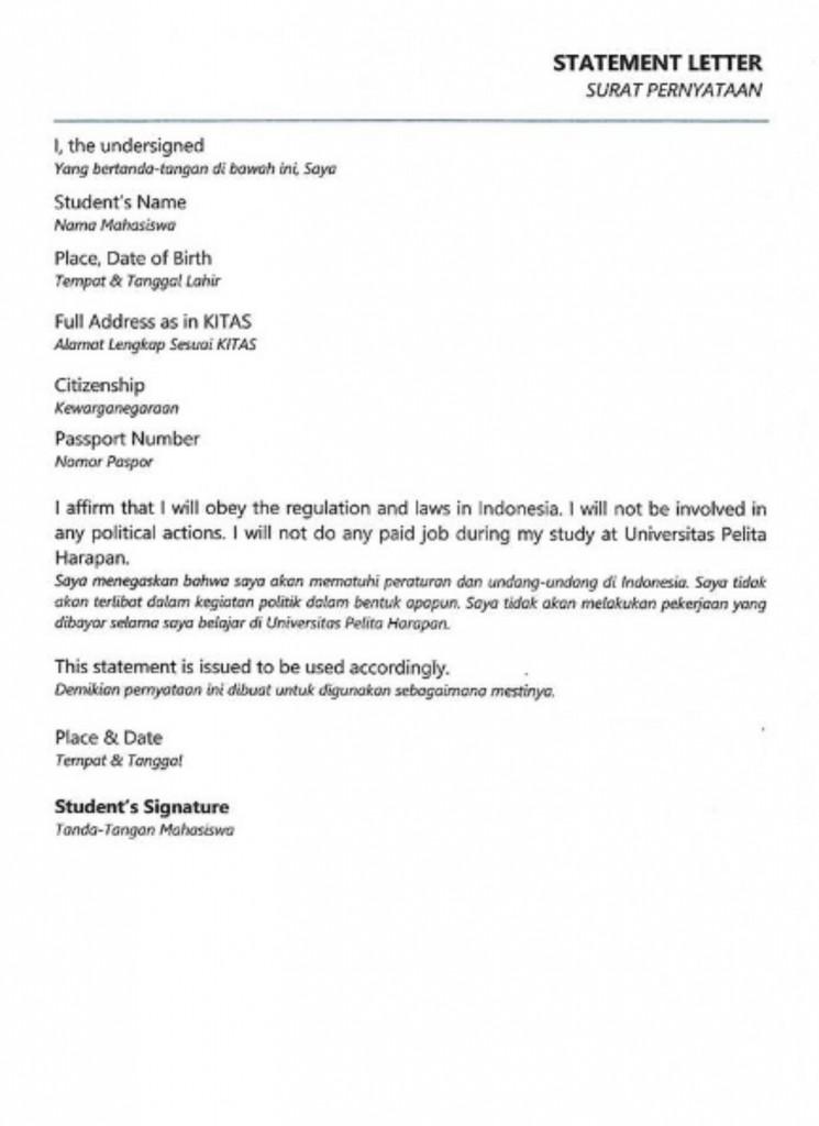 Hasil Pindaian Surat Pernyataan