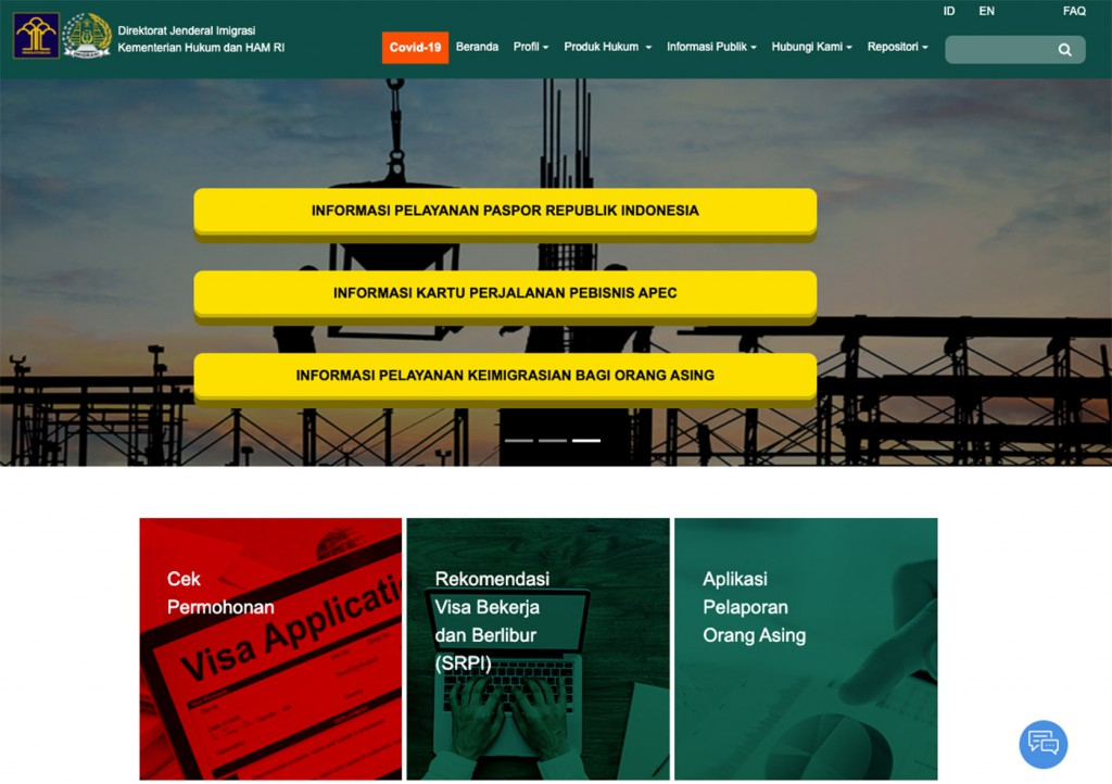 Website Imigrasi